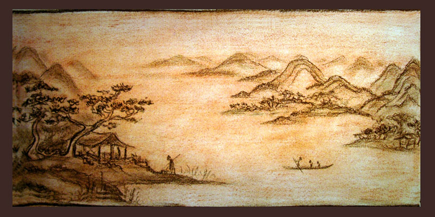 A landscape in Chinese style