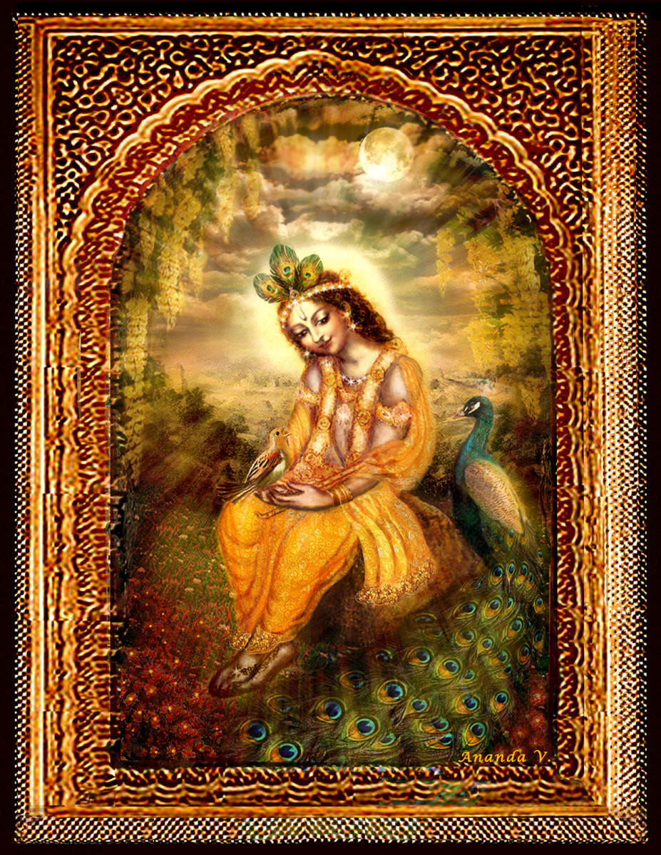 Krishna with the peacock