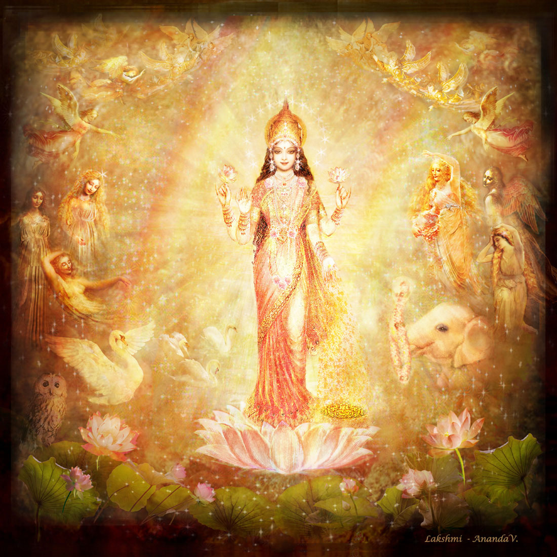 Lakshmi with Angels and Muses