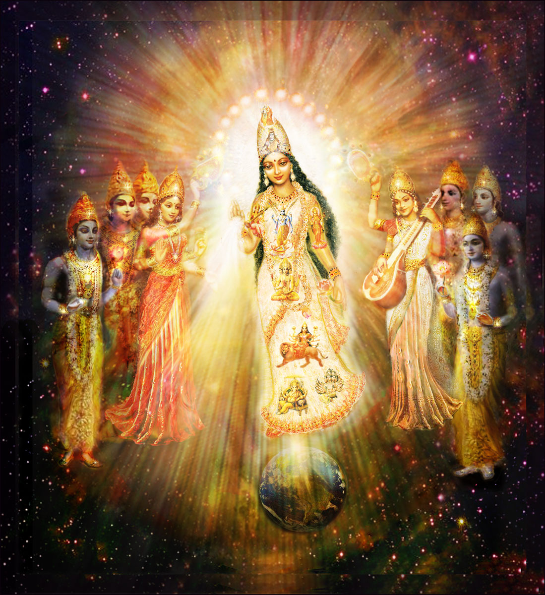 Great Divine Mother Goddess in Space