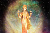 Lakshmi rising from a Galaxy