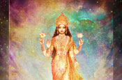 Lakshmi floating in a Galaxy