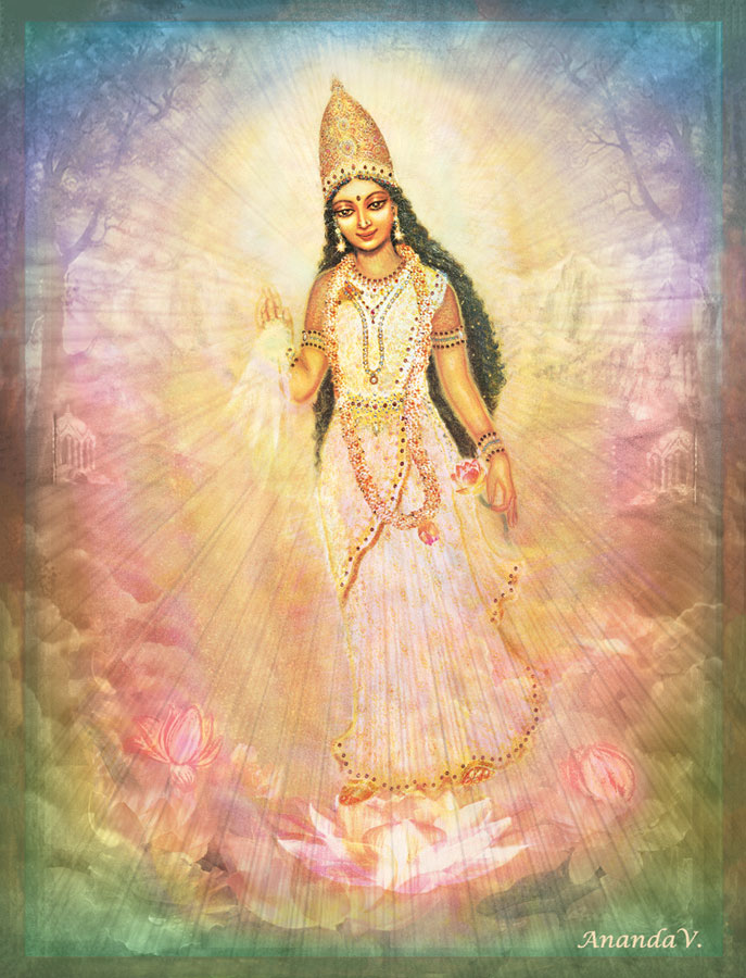 Mother Goddess in Heavenly Landscape