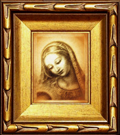 Madonna with the Dove, Face