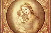 Madonna with kissing child